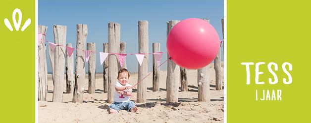 Tess 1 jaar! | Babyfotografie op het strand