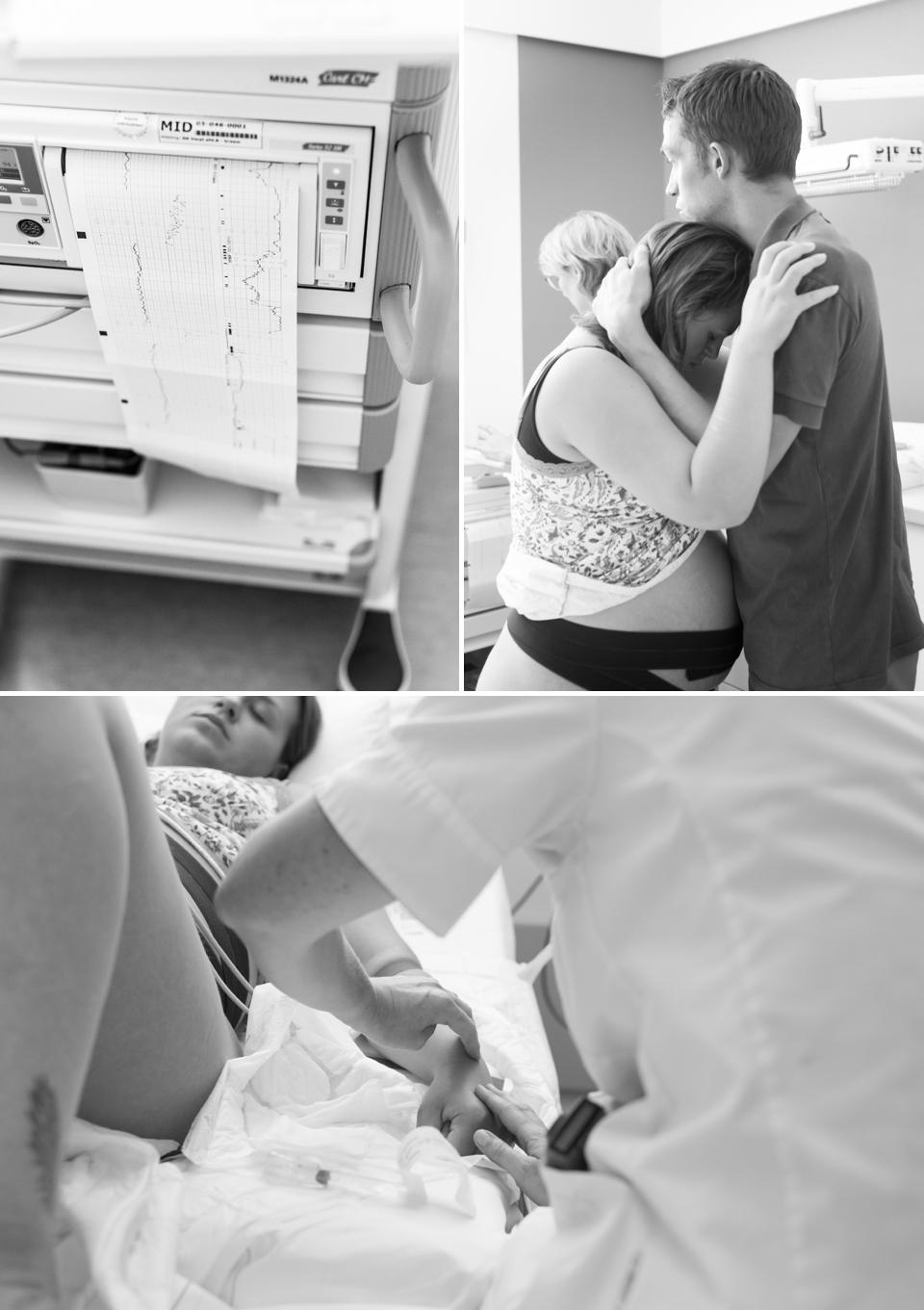 geboortefotograaf bij de bevalling