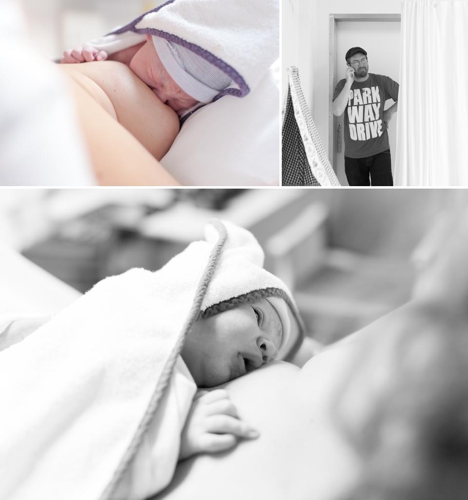 Fotograaf bij de bevalling