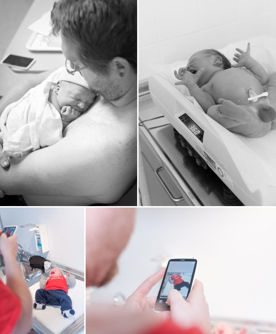 Foto's pasgeboren baby
