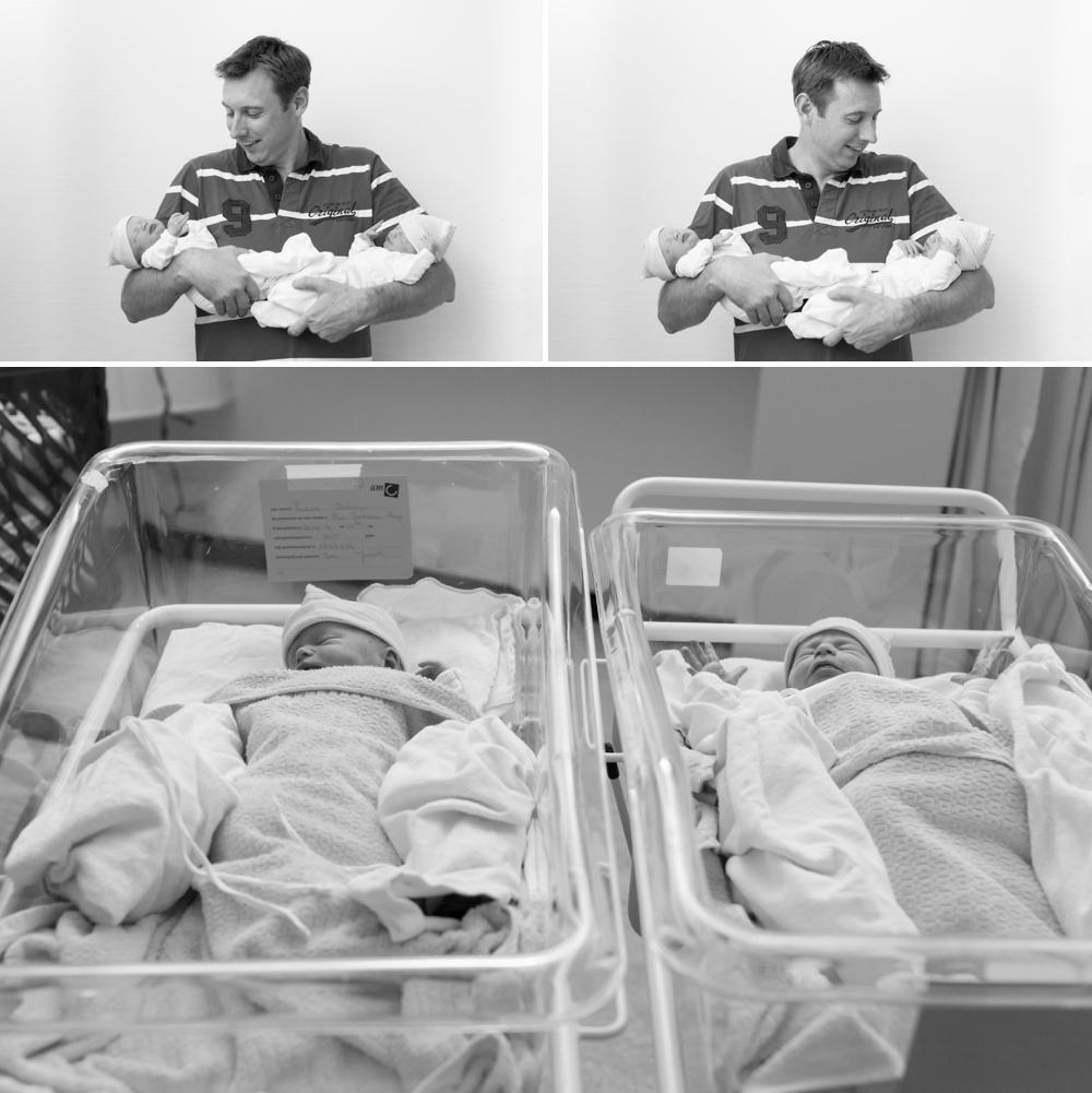 Bevallingsfotografie tweeling