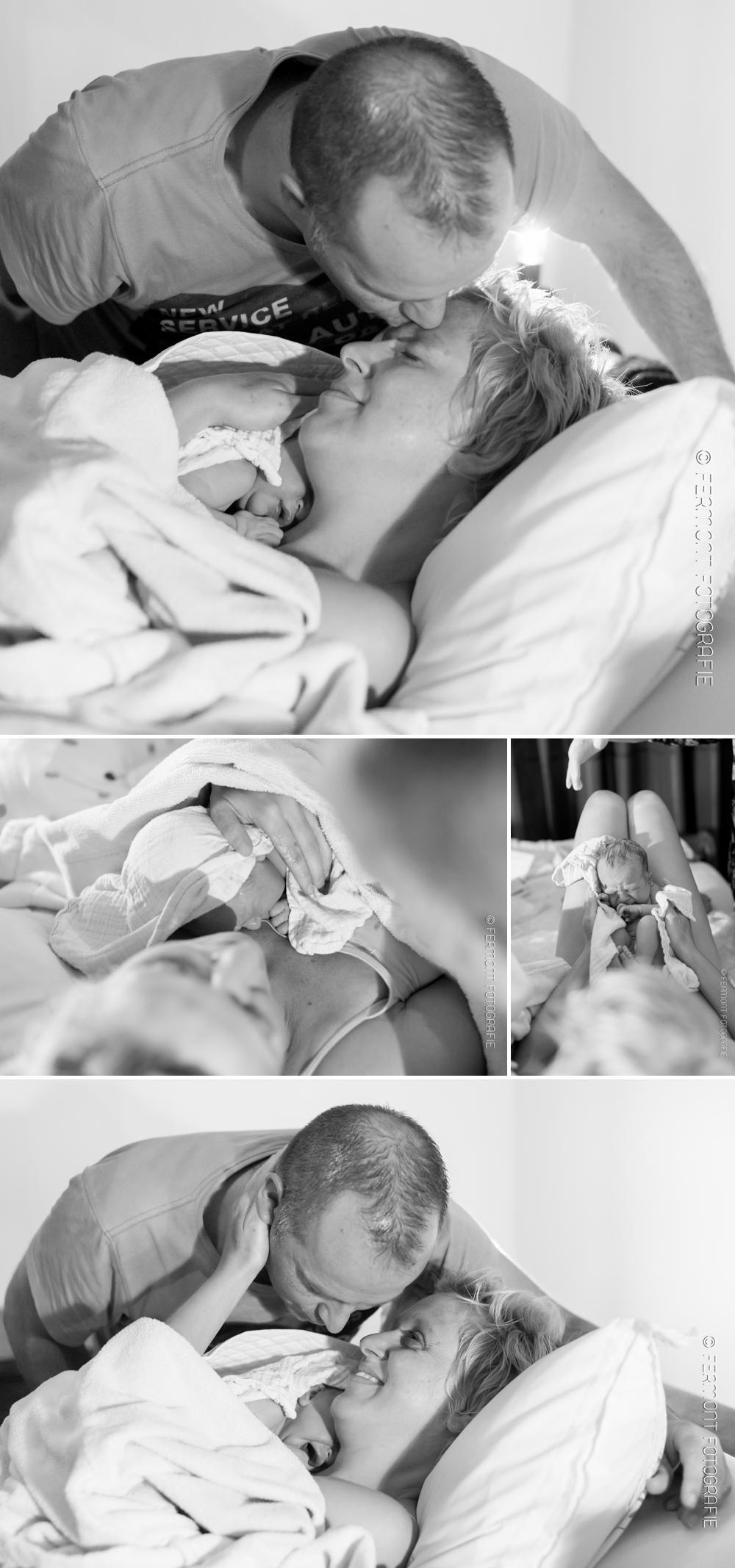 Foto's van de bevalling