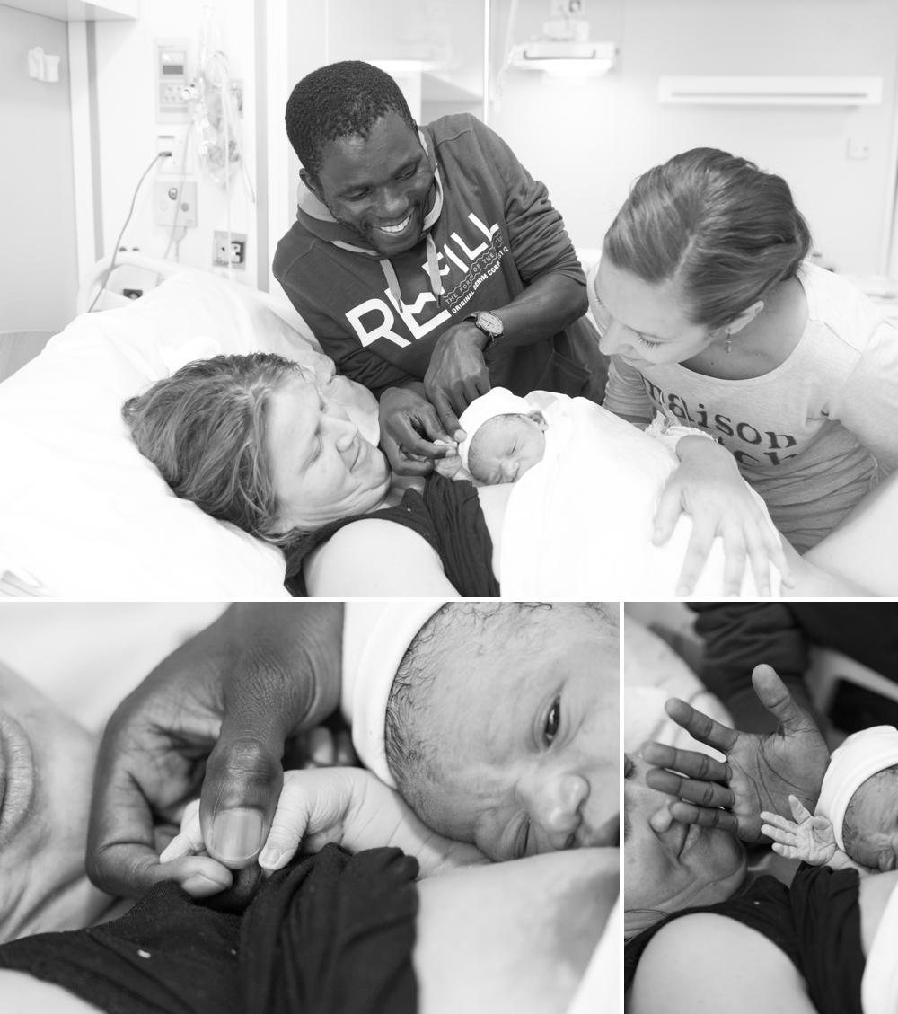 Fotograaf bij de geboorte