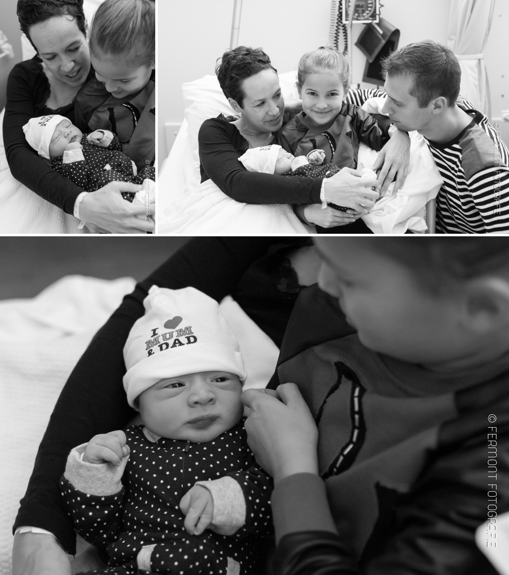 Foto's van de geboorte